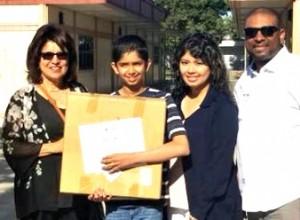 Akshaj Mehta of NP3 receives Chromebook